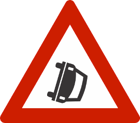 Traffic sign of Norway: Warning for accidents