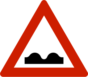 Traffic sign of Norway: Warning for a bad road surface