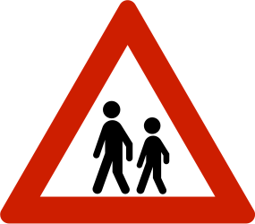 Traffic sign of Norway: Warning for children