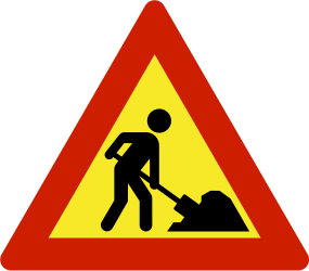 Traffic sign of Norway: Warning for roadworks