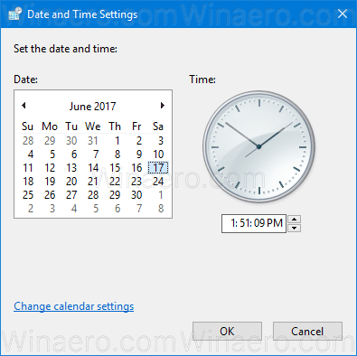 Windows 10 Change Date And Time Classic