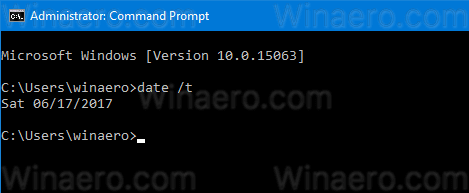Windows 10 Cmd See Date