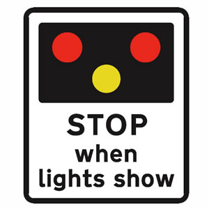 Light signals sign