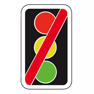 Traffic signals not in use sign