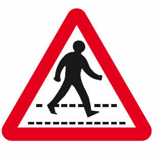 Zebra crossing sign